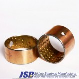 Grease groove bimetal oil bearing pin bush sleeve brass bimetal bushing,motor bush bearing