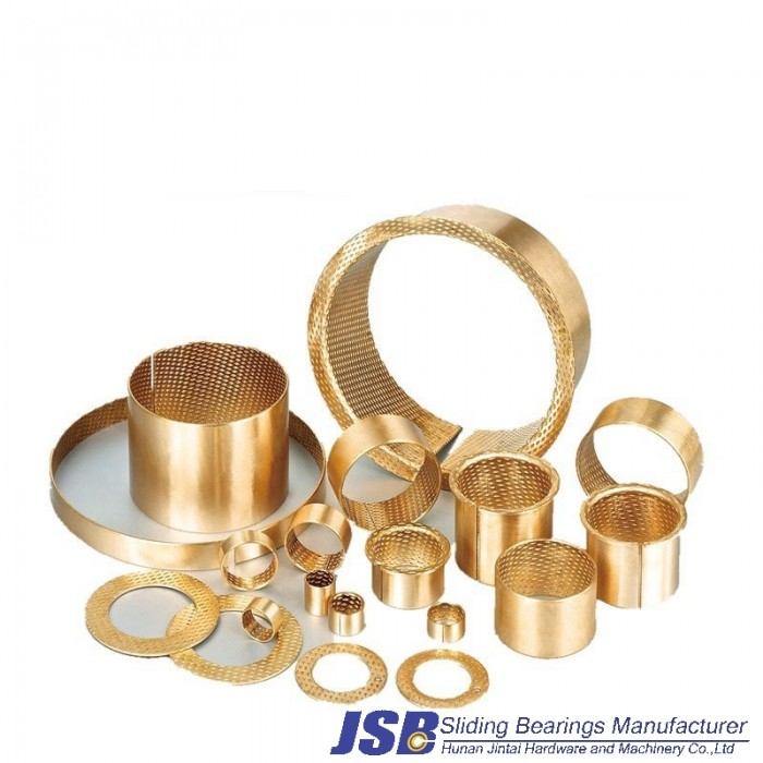 FB090 copper alloy bronze CuSn8 guide component bearing, brass rail sleeve bushing flange