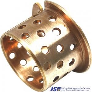 Flanged bronze bearing